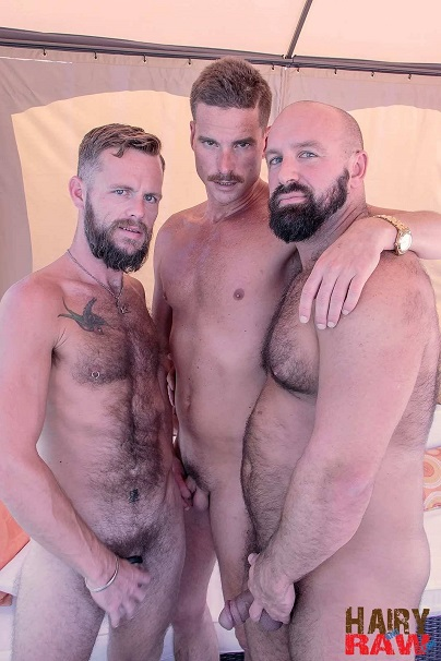 Gay sex - Troy Webb, Bone Flexx, Blake Bradley from Hairyandraw