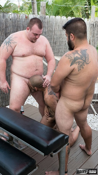 Gay sex - Lanz Adams, Gunner Scott and Renzo Marquez from Hairyandraw